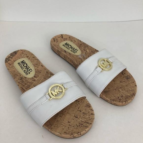 Michael Kors Mk Cork Slip On Sandals